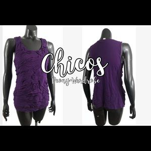 Chico's Purple Textured Tank Top
